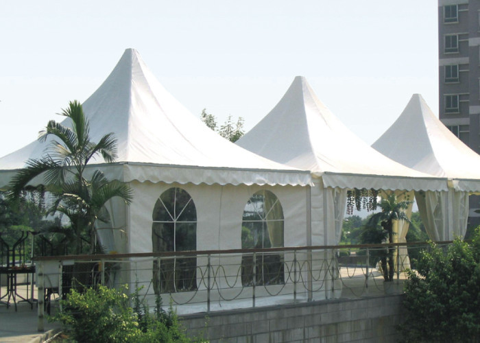 Waterproof Outdoor Luxury Pagoda Party Tent , 20 X 20 High Peak Frame Tent