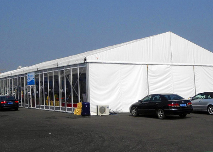 Glass Walls Outside Party Tents Wedding , Glass Doors Amusement Park Tent
